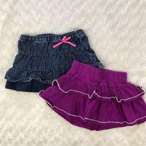 Baby Girl Skirt Bundle Gymboree Purple Blue 9M